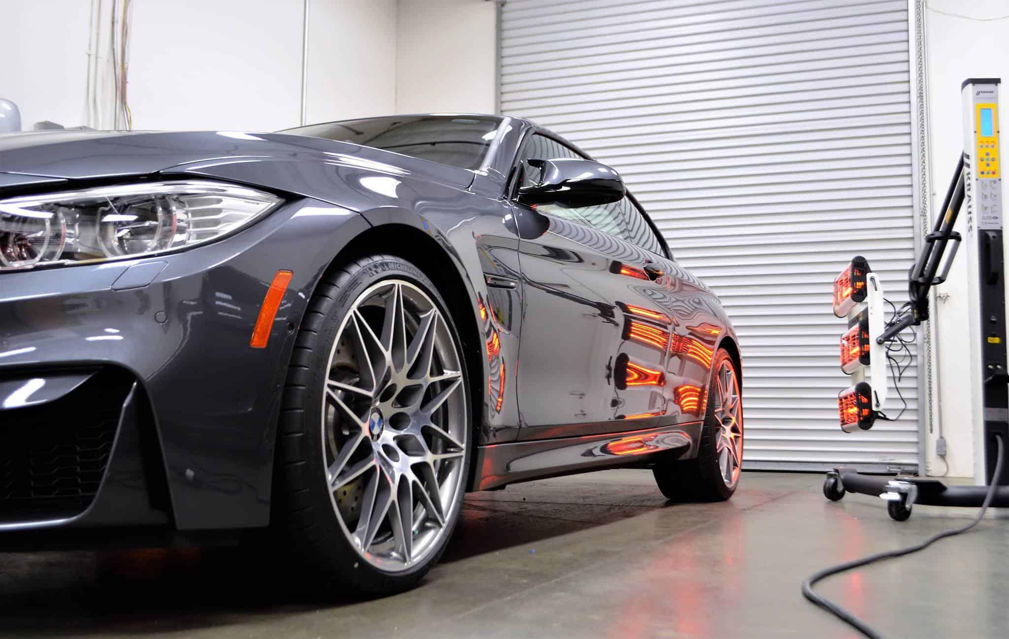 BMW M4 nano coating curing